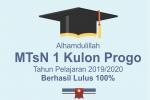 MTs Negeri 1 Kulon Progo Serentak Umumkan Kelulusan Siswa Via Daring